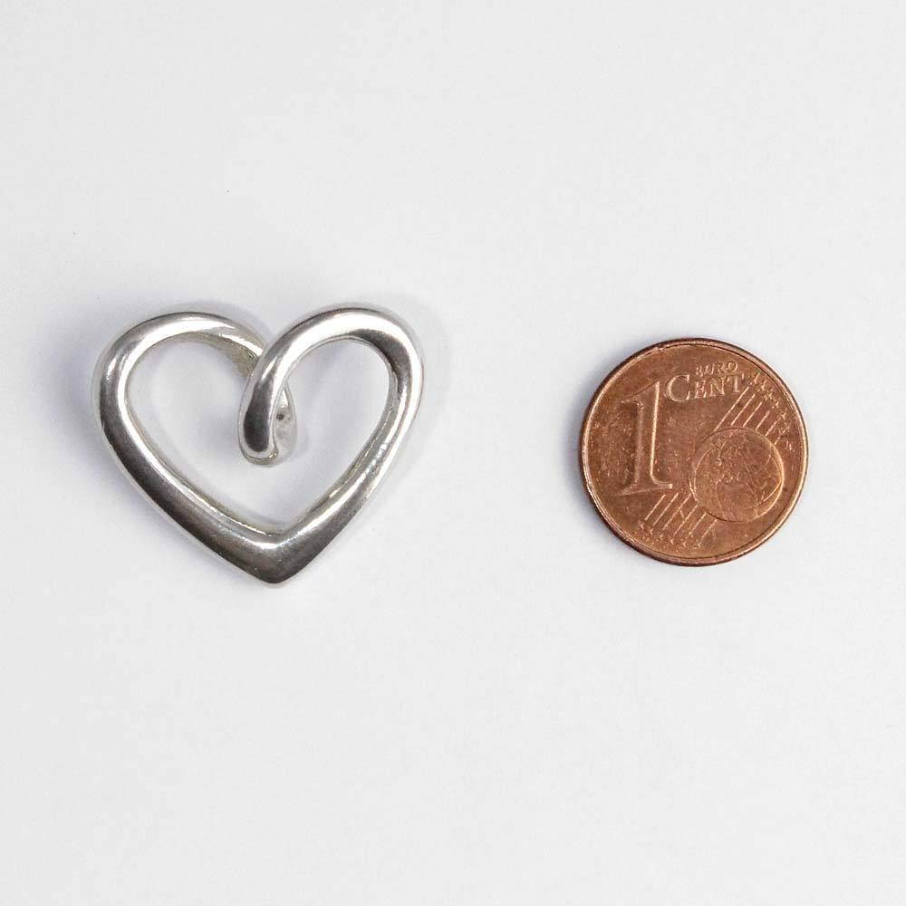 Anhänger in 925er Silber in Herzform