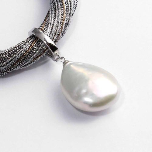 Anhänger 925er Silber als Einhänger mit Süßwasserzuchtperle