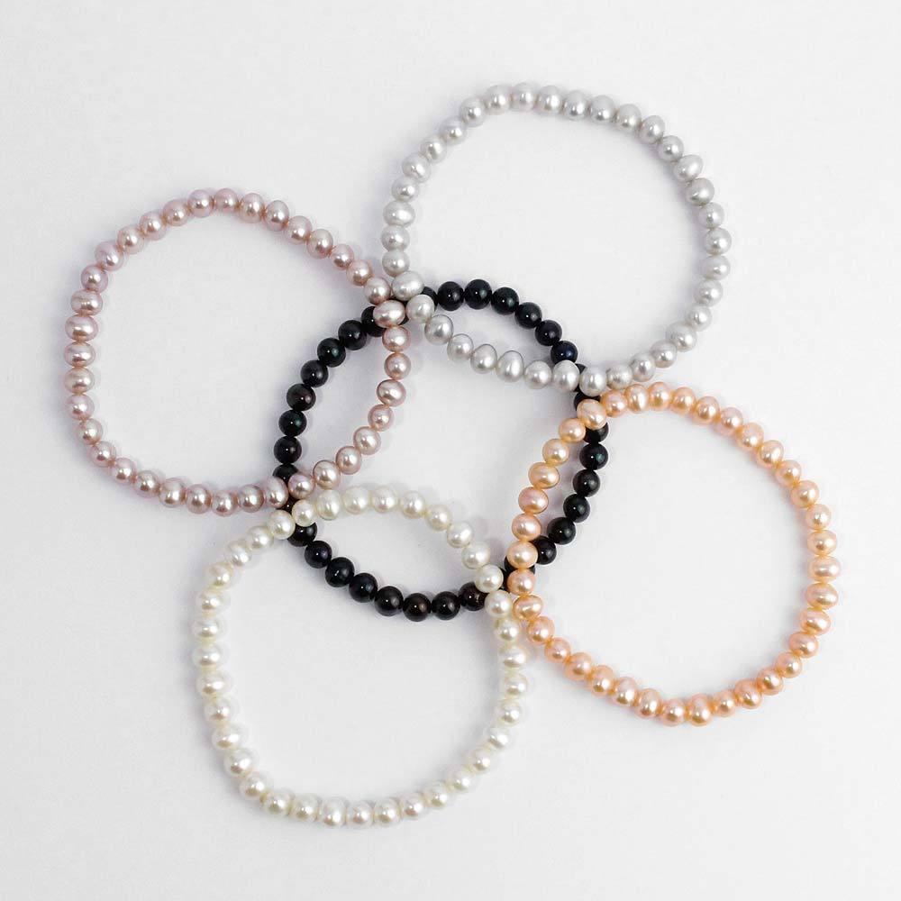 Armband mit Süßwasserzuchtperlen oval
