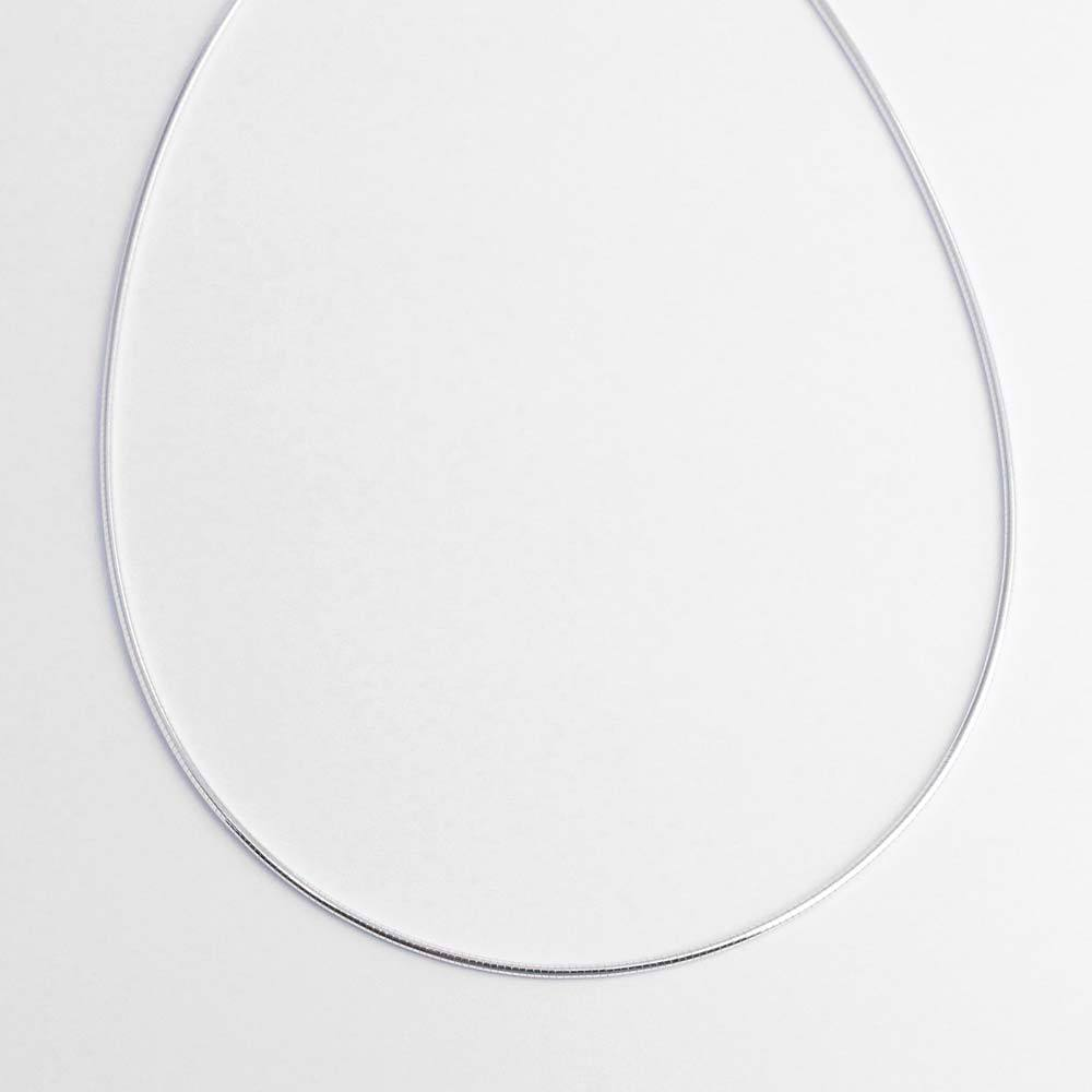 Kette 925er Silber als Halsreif mit Karabinerverschluss