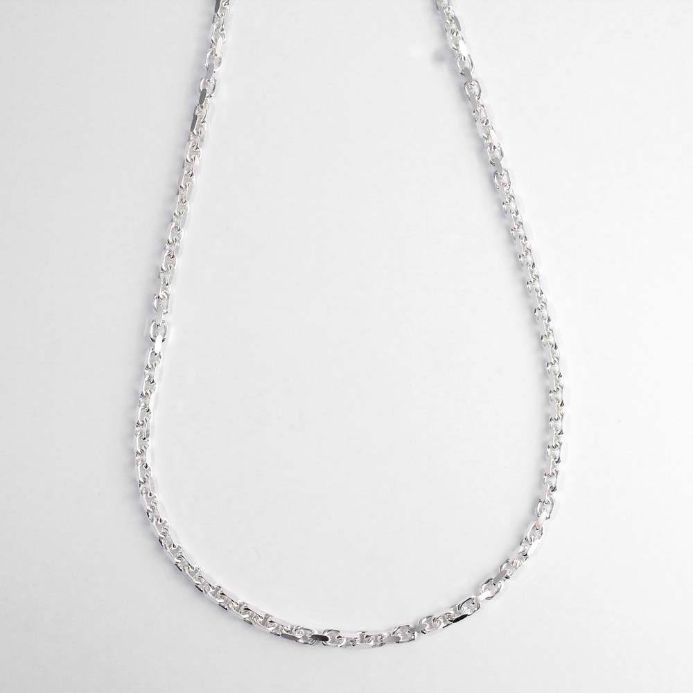 Kette 925er Silber, Ankermuster geschliffen, massiv