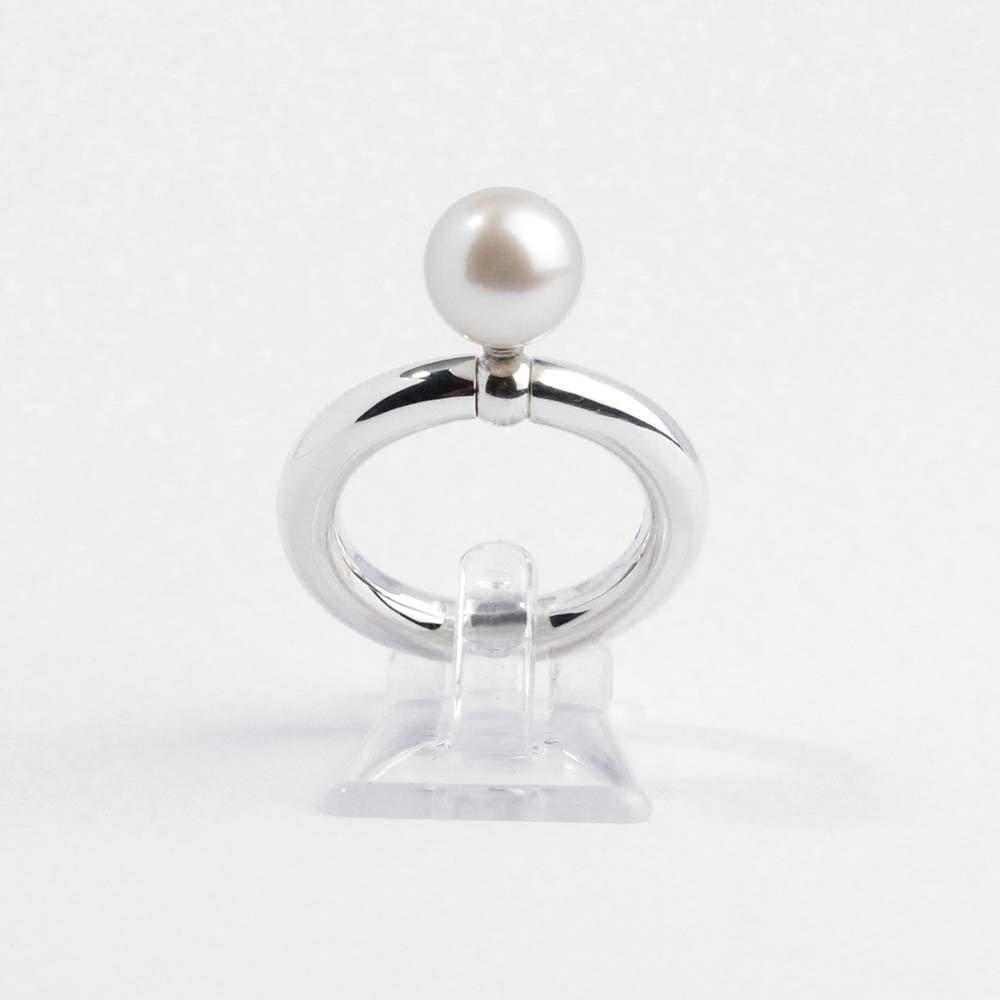 """Ring 925er Silber """"Swing"""" mit echter Süßwasserzuchtperle"""