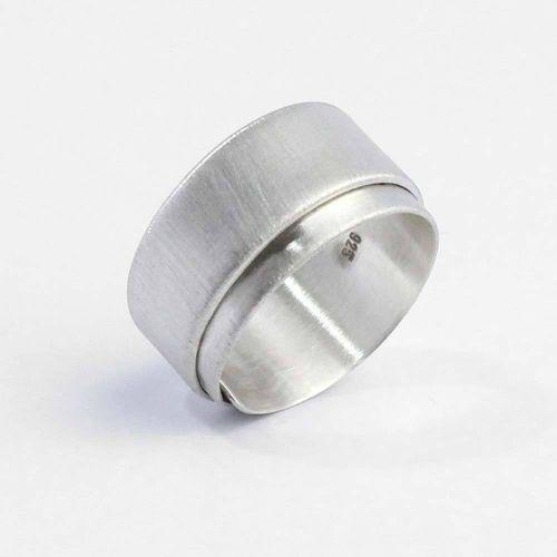 Ring 925er Silber gewickeltes Silberband