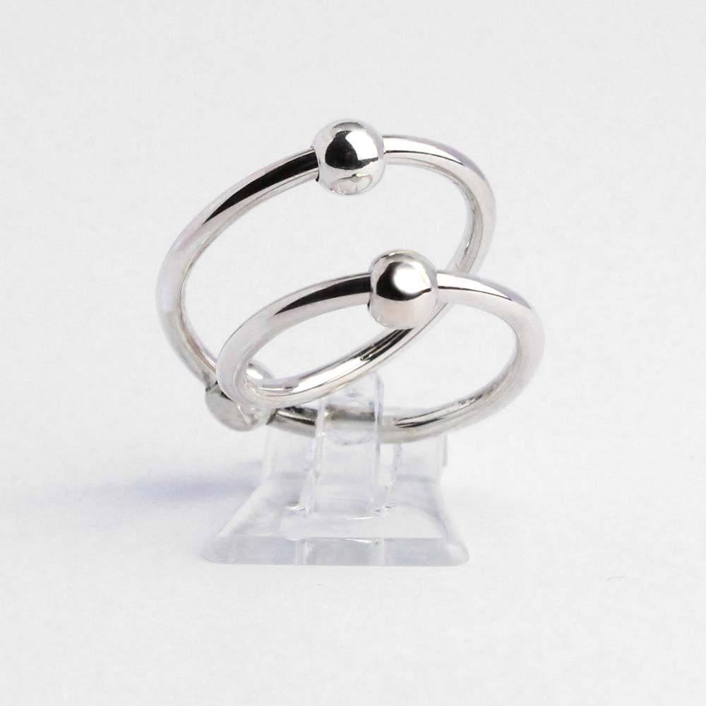 Ring 925er Silber mit zwei beweglichen Kugeln