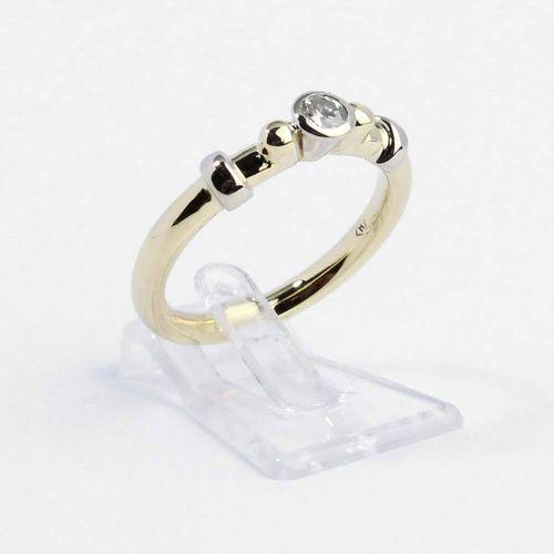 Ring 585er Gelbgold mit Brillant