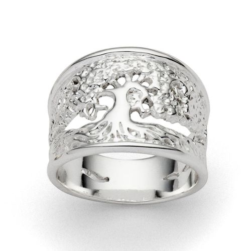 "Breiter Silber-Ring ""Lebensbaum"""