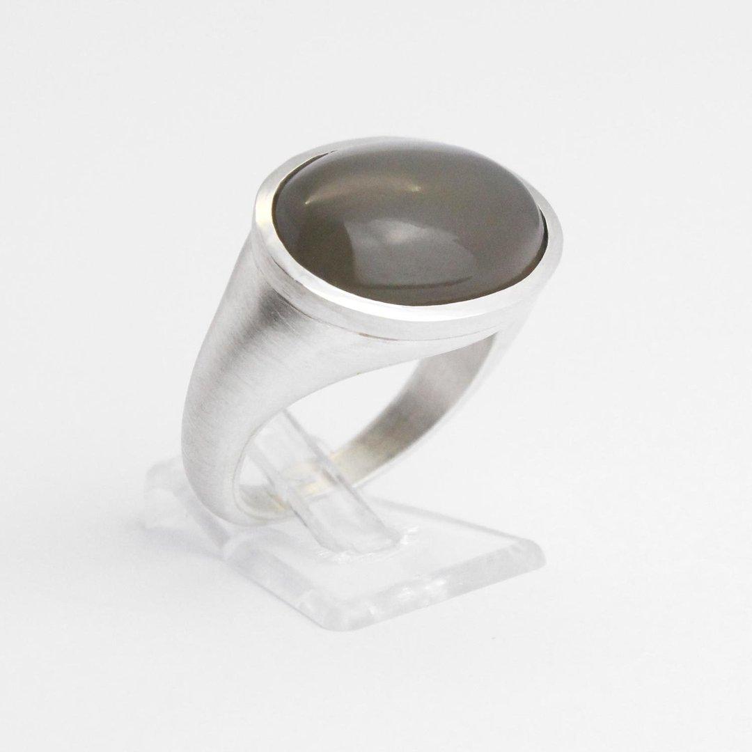 Ring 925er Silber mit grauem Mondstein