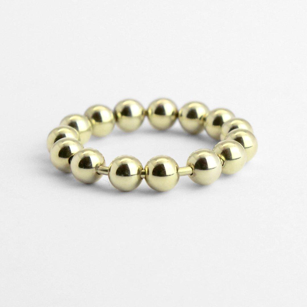 """Ring """"Spielring"""" mit beweglichen 585er Goldkügelchen"""
