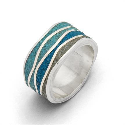 "Ring ""Meeresblau"""