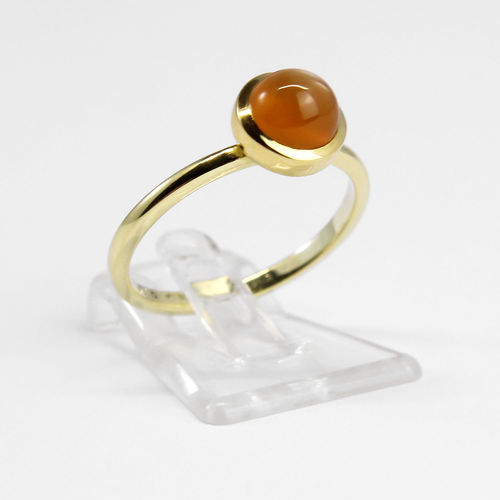 "Ring Mondstein ""orange"" 585/- Gold"
