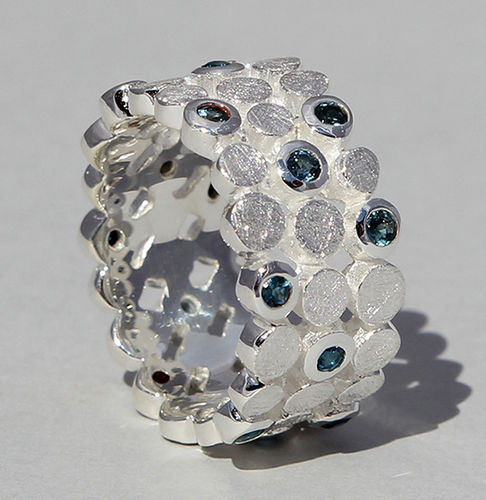 Ring Topas London Blue 925/- Silber