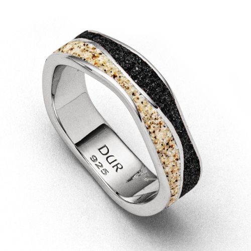 "Ring ""Welle/Sand/Lava 925/- Silber"